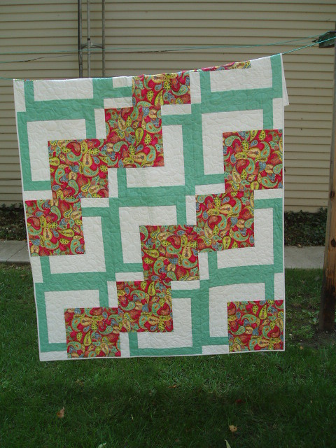 BQ | a quickie quilt meant for me to practice doing pantogra… | Flickr
