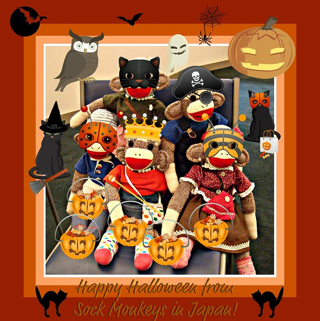 Happy Halloween from Sock Monkeys in Japan!