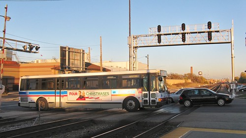 Southbound CTA bus on North Narragansett Avenue. Chicago Illinois. October 2008. by Eddie from Chicago