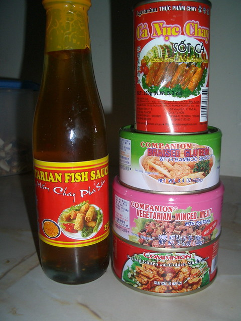 Vegetarian fish sauce mock fish mock minced meat and for Fish sauce gluten free