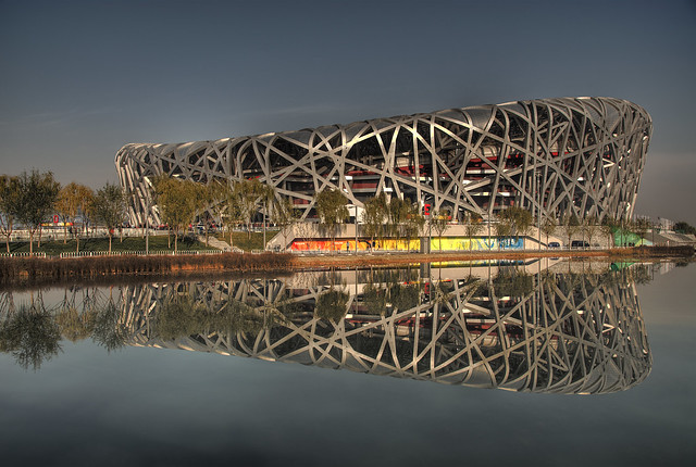 Bird 39 s nest olympic stadium beijing flickr photo sharing for The bird s nest stadium