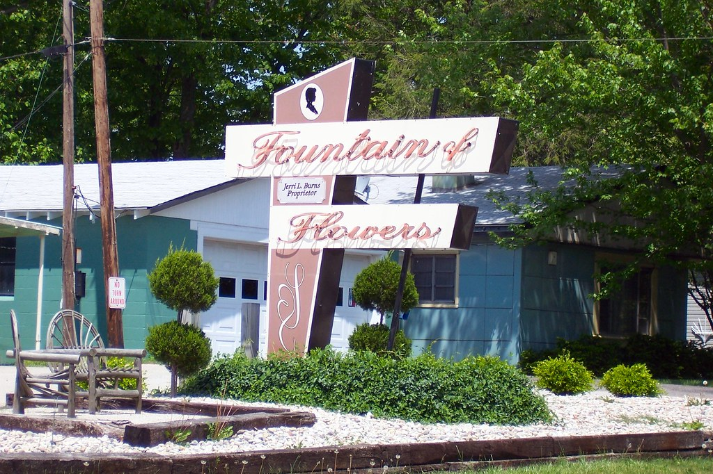 Fountain of Flowers sign