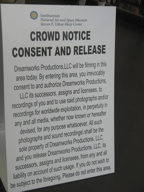 Crowd Notice Consent And Release Flickr Photo Sharing