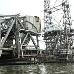 Amtrak Railroad Draw Bridge over the Hutchinson River, Bronx, New York City