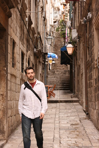 Lon in Dubrovnik Alleyway