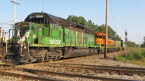 Northbound BNSF Railway light engine movement. Hawthorne Junction. Chicago / Cicero Illinois. June 2008. by Eddie from Chicago