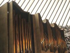 wood, organ pipe, pipe organ,