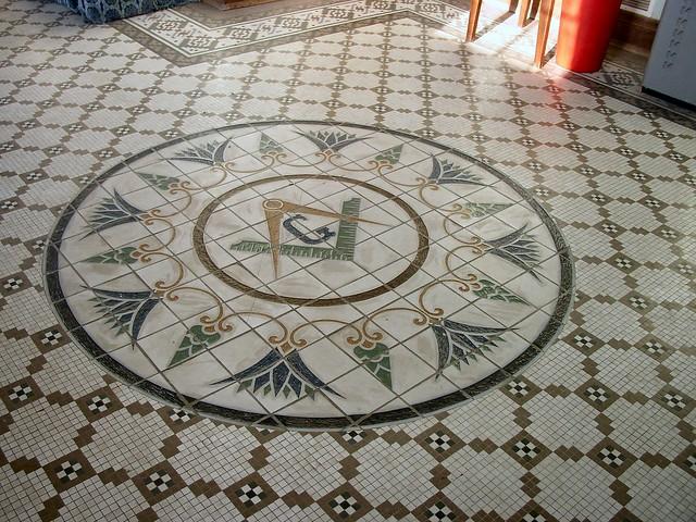 Historic Oklahoma Masonic Lodge Tile Floor Flickr