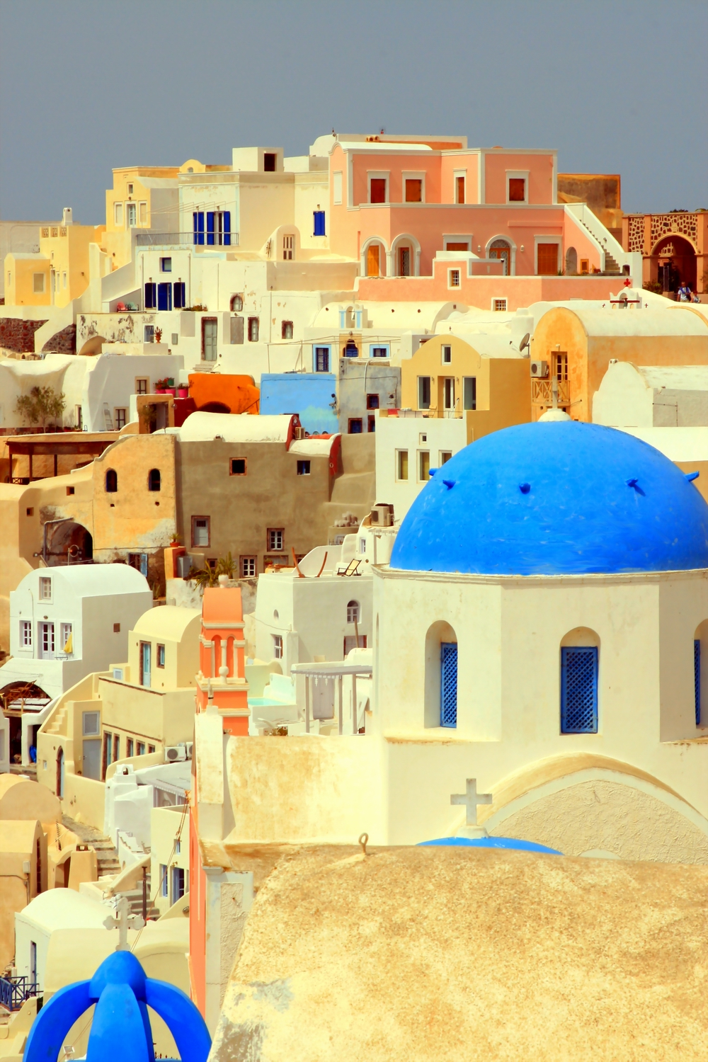 Houses and dome, Oia