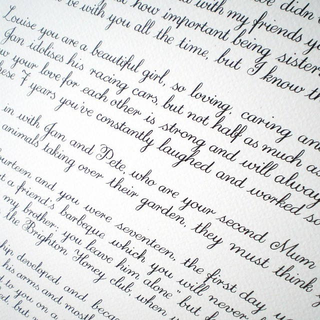 Copperplate Calligraphy | Flickr - Photo Sharing!