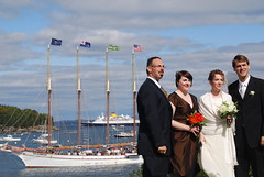 the newlyweds and their wedding party. and a beautiful ship. by lhamlyn