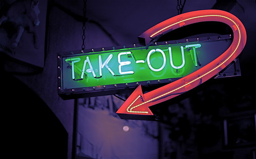 Take-Out sign