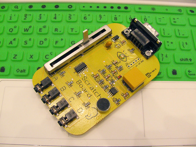 Resoldered capacitor on the Picoboard