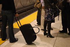 BART baggage and nice outfit too, San Francisco Embarcadero