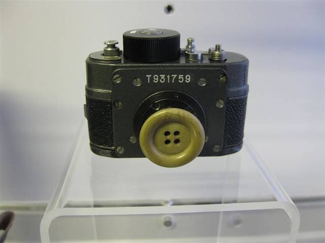 Button camera in Stasi museum