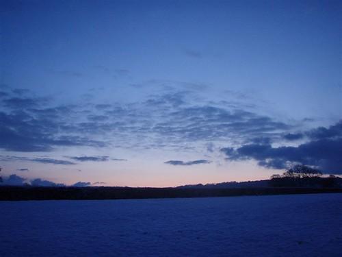 uk winter england snow sunrise dawn devon 2009 culmstock yabbox