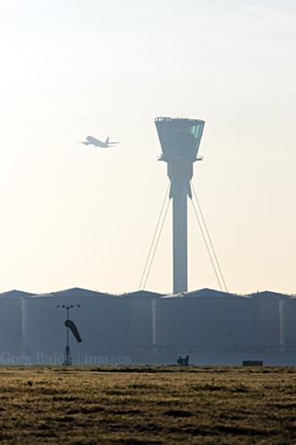 Airplane take off at London Heathrow