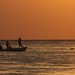 Tarpon Fishing at Sunset on the Gulf of Mexico