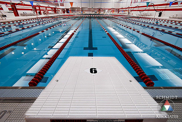 Munster high school pool an album on flickr for Innovative pool design kings mountain