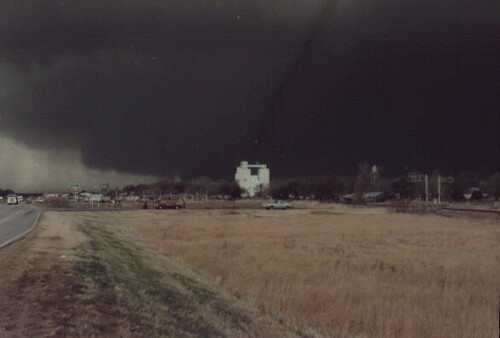 Hesston (KS) United States  City new picture : , Ks. March 13, 1990 The Hesston, Ks tornado before it hit Hesston ...