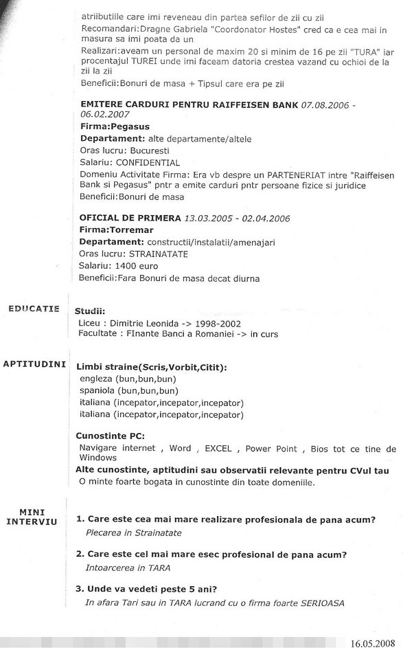 modele de cv-uri in romana download free