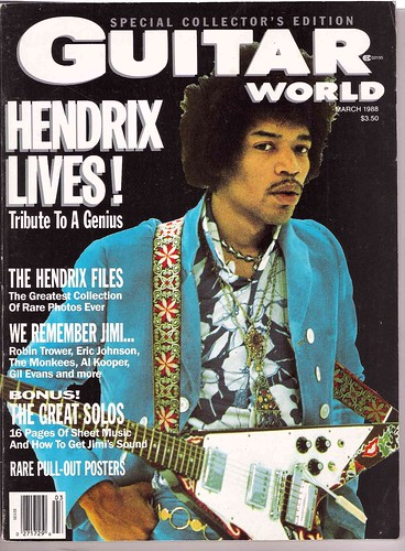 JimiGW-Cover 3-88 Guitar World,  HENDRIX LIVES!: THE UNPUBLISHED HENDRIX, VOL. II