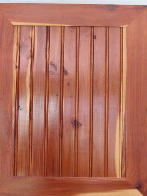 Cedar cabinet door flickr photo sharing for Cedar kitchen cabinets