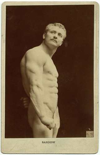 portraits of bodybuilder Eugen Sandow