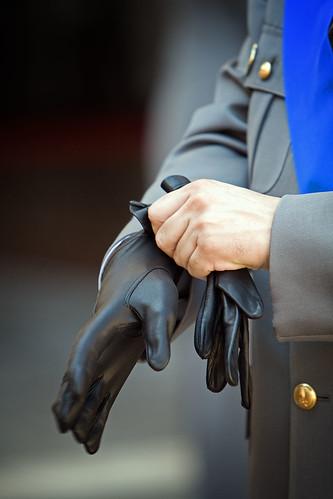 Wearing the glove