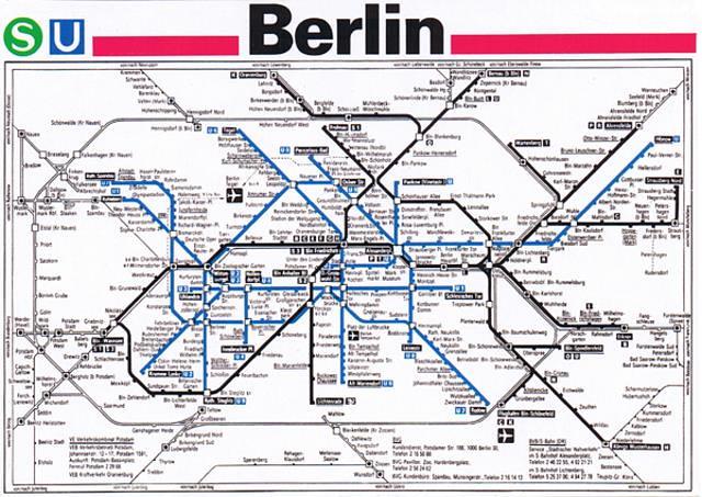 U-bahn Map Berlin Printable Berlin U-bahn Map