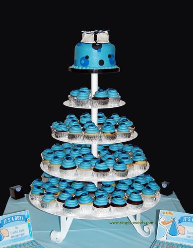 Baby Shower Cupcake Tower Ideas : Simply Sweets Cake Studio, Scottsdale Phoenix, AZ -custom ...