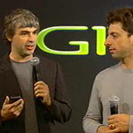 Larry Page and Sergey Brin introducing the G1