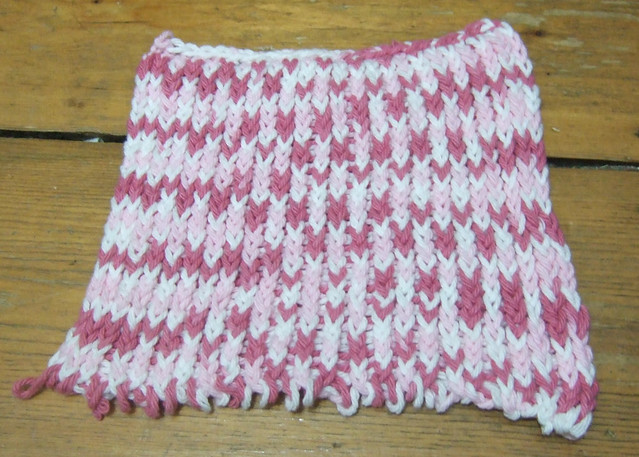 Mariannes loom knitted dishcloth Flickr - Photo Sharing!