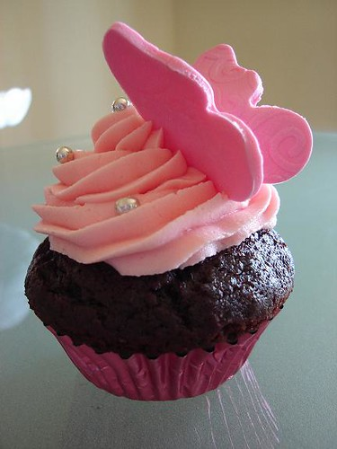 Pink Butterfly Cupcake Flickr - Photo Sharing!