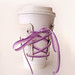 Lace up Coffee Cozy