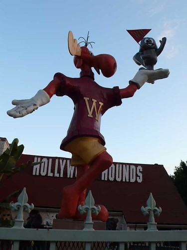 Rocky and Bullwinkle Statue on Sunset Blvd.