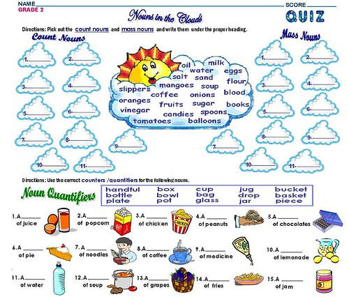 GRADE 2- COUNT AND MASS NOUNS