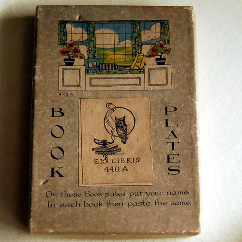 Box for vintage bookplates by Rust Craft