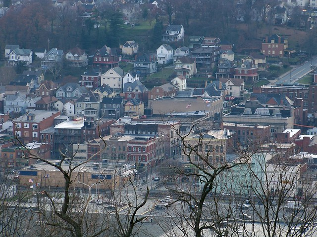 Charleroi Pa Downtown Charleroi As Seen From Grandview