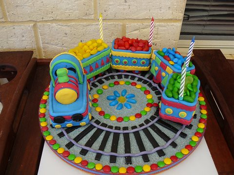 Mossys Masterpiece Joshuas 4th Birthday Cake Train