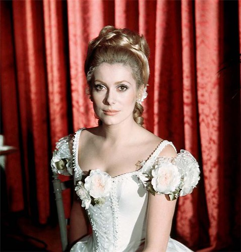 Ready for the ball. Catherine Deneuve.