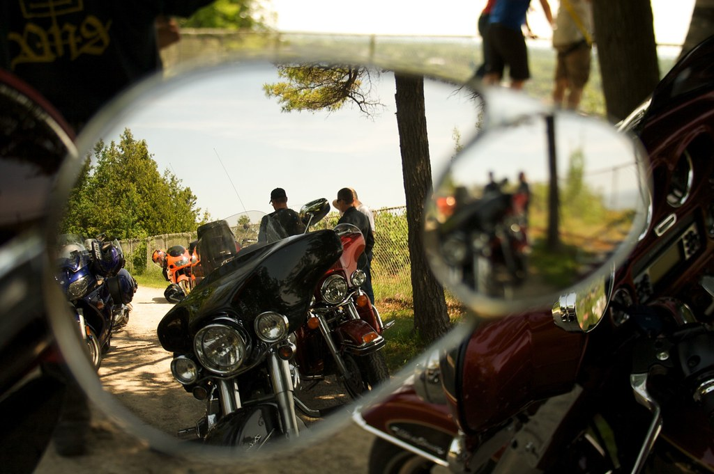 Picture of motorcycle reflections