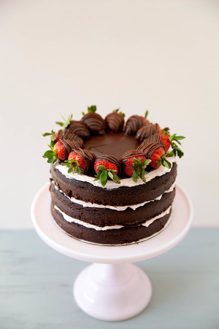 Chocolate Covered Strawberry Layer Cake - Annie's EatsAnnie's Eats