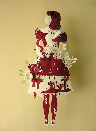 Paper Sculpture (Red and White)