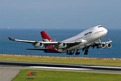 Qantas 747-400 at VHHH