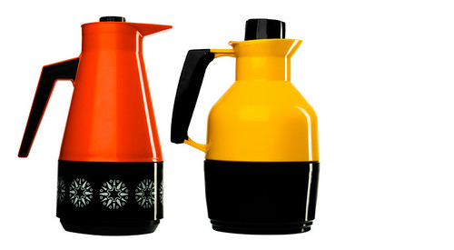 Red and yellow thermos
