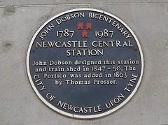 Photo of John Dobson black plaque
