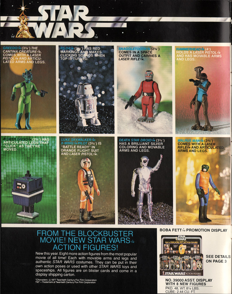 Kenner Star Wars product Supplement 1979 - page 01