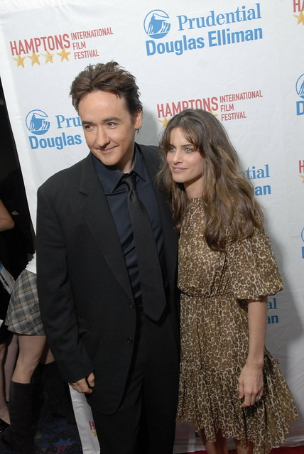 John Cusack & Amanda Peet arrive at a screening of THE MARTIAN CHILD
