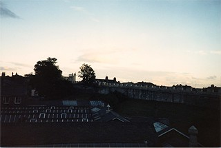 Image of City Walls near York. york uk summer vacation england tour unitedkingdom britain 1987 yorkshire tourist scan september scanned scannedphoto summervacation northyorkshire citywall september5 americantourist
